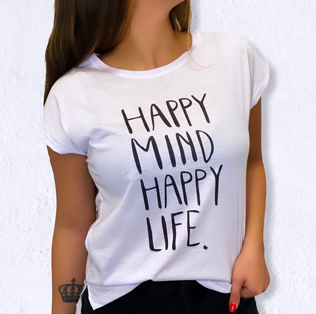 Remera Happy Mind HAppy Life