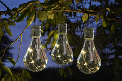 Eureka LED Solar Light Bulb Lanterns Clear - Set of 6
