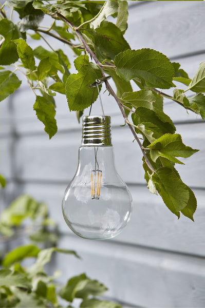 Eureka Retro LED Solar Lightbulb Clear - Set of 4