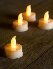 Battery Powered LED Tea Lights - Battery Included - Set of 6