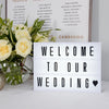 Battery Operated LED Cinematic Light Box Sign Party Wedding Cinema Plaque - A3 Size