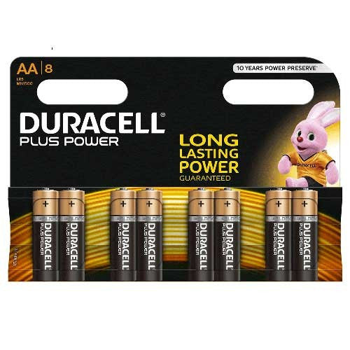 Duracell Plus Power AA LR6 Batteries | Pack of 8