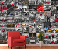 Creative Collage Wallpaper Mural City Scene