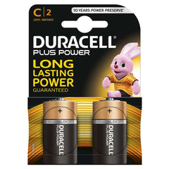 Duracell Plus Power C LR14 Batteries | Pack of 2