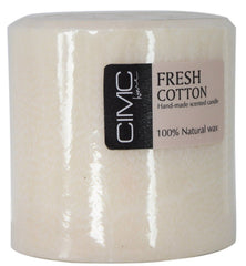 French Cotton Rich Scented Large Pillar 100% Organic Wax Candle