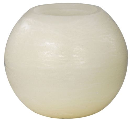 Battery Operated LED Large Ivory Ball Candle Flickers when Operated Requires x2 CR2032