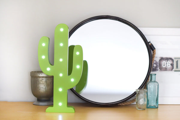 Led Light Up Shapes - Cactus - Green