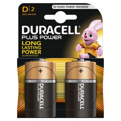 Duracell Plus Power D LR20 Batteries | Pack of 2