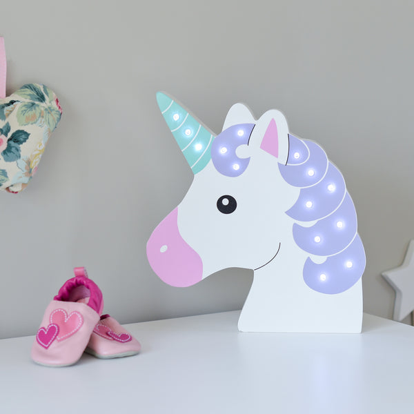 Up In Lights LED Light Up Magical Unicorn Lamp - Battery Powered