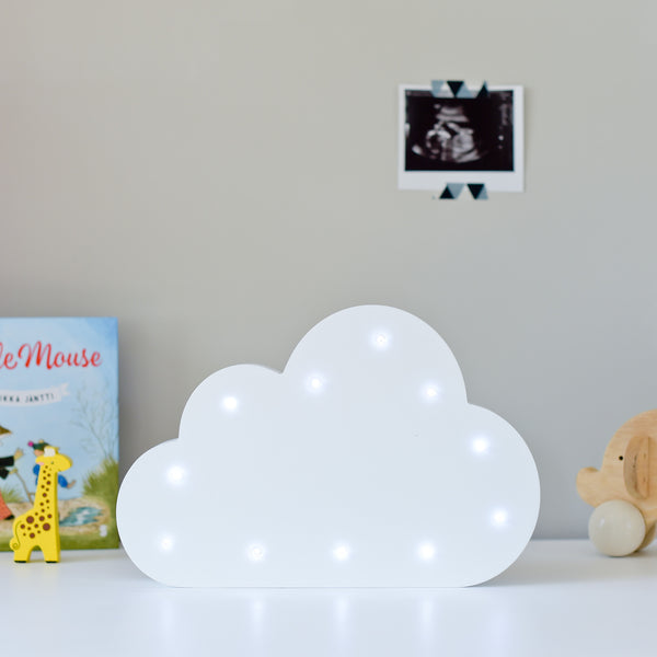 Led Light Up Shapes - Cloud - White