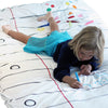 The Doodle Cotton Duvet Cover - Single Size (UK) - Supplied with Wash-out Pens - NEW