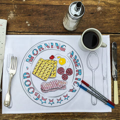 The Doodle Draw Placemat Set