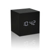 Gingko Gravity Cube Click Alarm Clock Gift - LED Display - Sound Activated NEW - Available in 5 colour variants