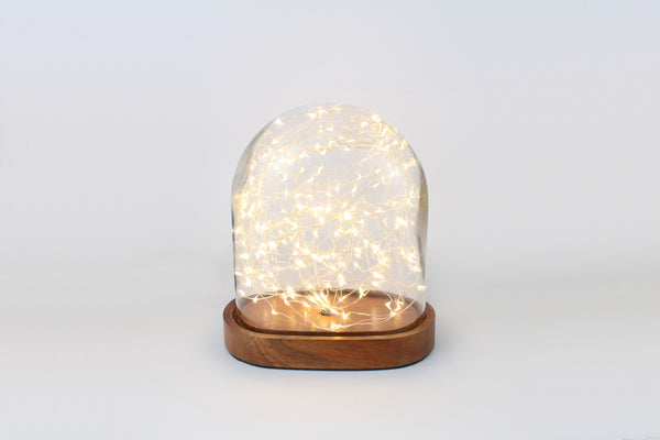 Galaxy Dome Table Light with 200 LED's Oval - Available in Brown or Black