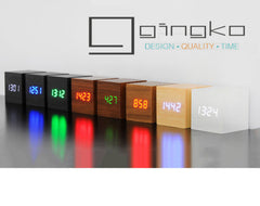 Gingko Click Clock Cube LED Alarm Clock - Available in 12 colour variants