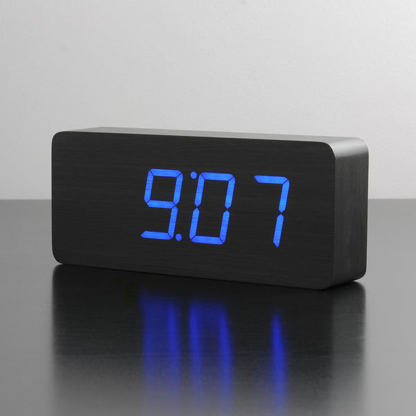 Gingko Slab Click Clock Alarm - Available in 3 colour variants