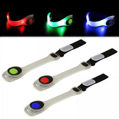 LED Flashing Hi-visibility Armband - 6 Pieces - Available in Red, Blue or Green