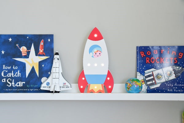 Up In Lights LED Light Up Rocket Light Decoration Battery Powered