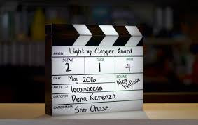 Battery Operated Cinematic Clapperboard Lightbox Dry White Pen Home / Video New