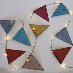 Multi Coloured Metal LED Bunting - 3 metres
