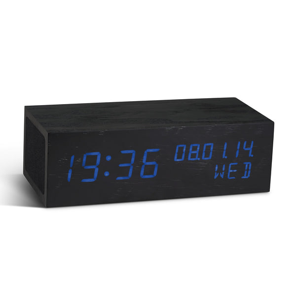 Gingko Digital Music Wood Click Alarm Clock Bluetooth Enabled - Available in 2 colour variants