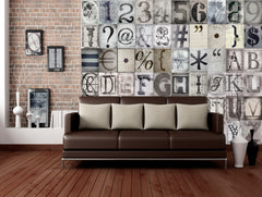 Creative Collage Wallpaper Mural Typography