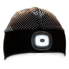 X-Cap LED Beanie Hat for Running with Integrated LED - USB Charged