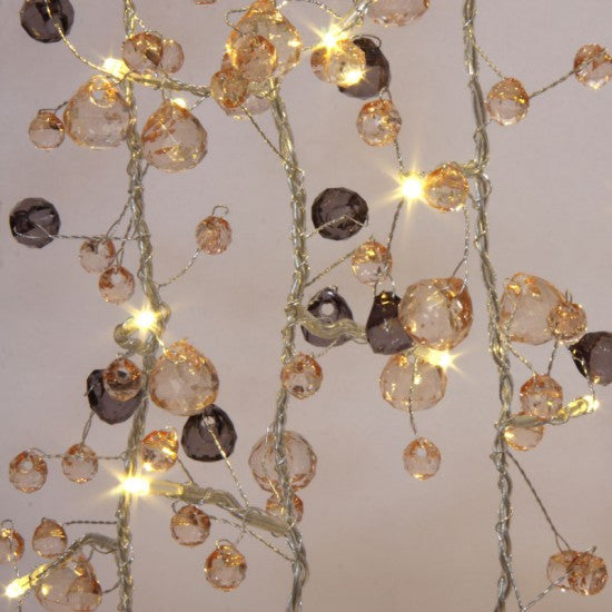 Coco Chic Warm White Crystal Fairy Light Chain with 50 LEDs
