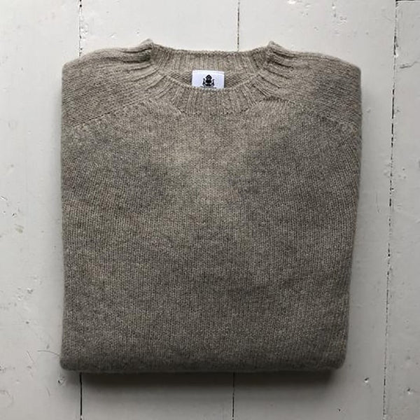 Beauford Oatmeal Sweater - Front - Men's Clothes