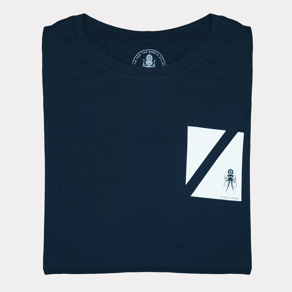 Diver Down Flag T-Shirt - Folded | Submariner