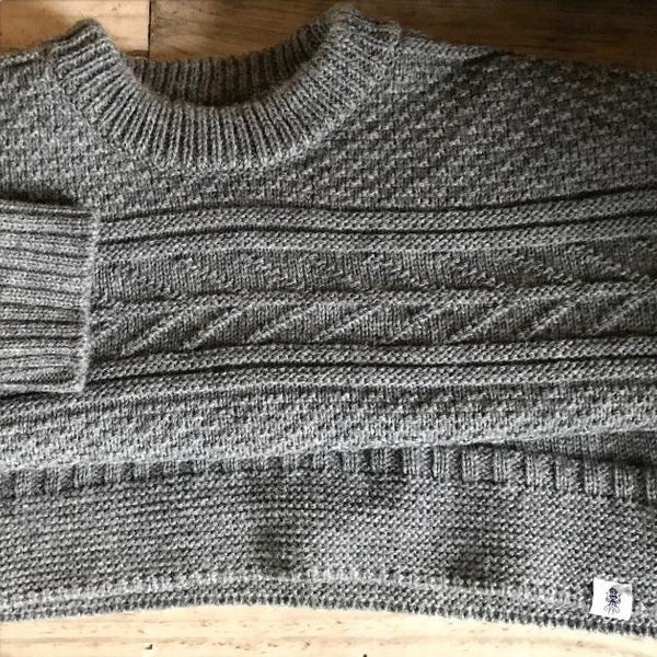Grey Marlin Spike Sweater