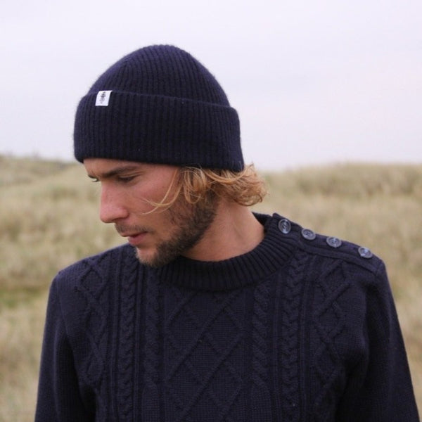 Model wearing Brenton Sweater- Men's Clothes