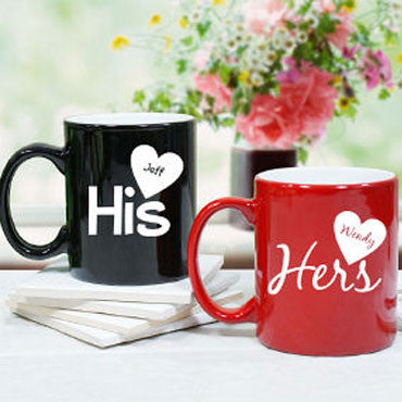 Chitchat Cafe His & Hers Mugs