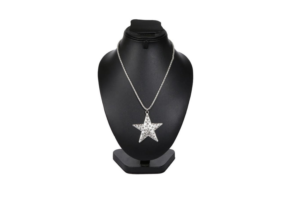 Star Shaped Silver Necklace