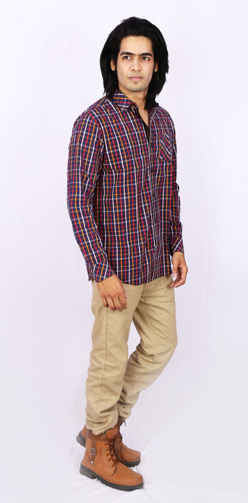 Taka Apparels Maroon Casual Shirt