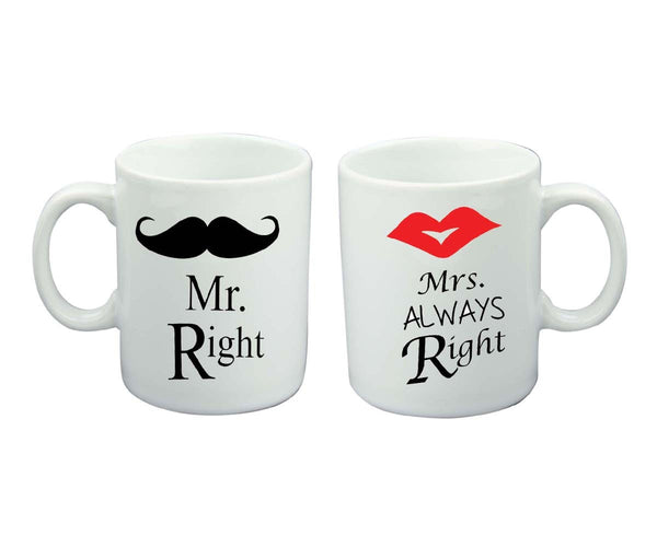 Chitchat Cafe Mrs Right & Mrs Always Right Mugs