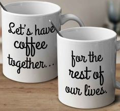 Chitchat Cafe His Let's Have Coffee Together Mugs