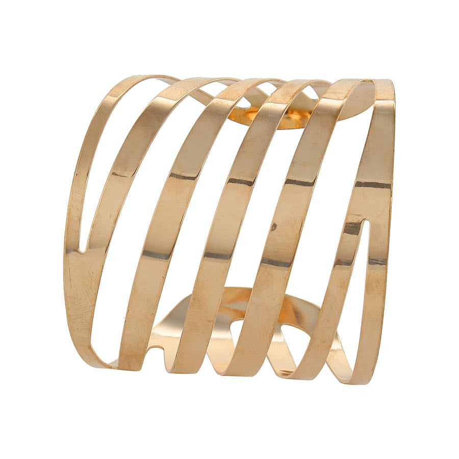 Fayon Funky Fashion Golden Charming Cuff Bracelet