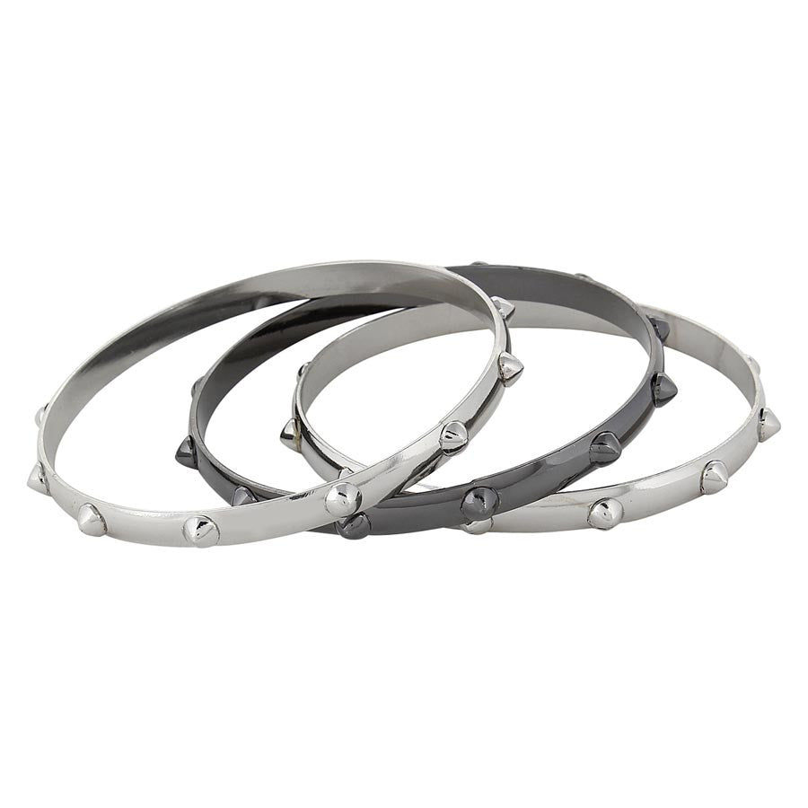 Fayon Chic Stylish Grey Punk Style Bangle Bracelet Set