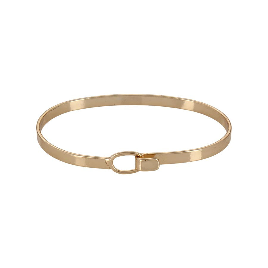 Fayon Daily Casual Work Golden Thin Bangle Bracelet