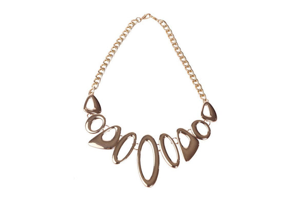 Abstract Golden Necklace