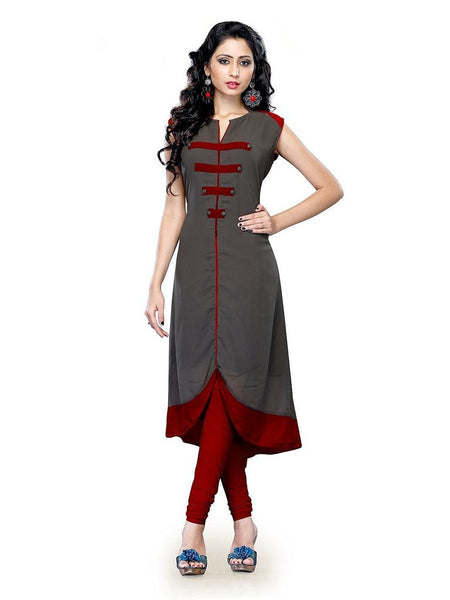 Axar fashion women free size fancy kurti(AXAR_grey)