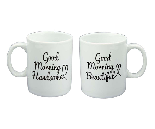 Chitchat Cafe Good Morning Handsome & Beautiful Mugs