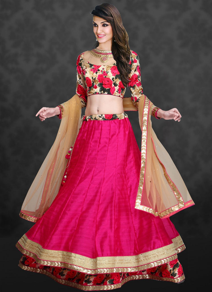 wama fashion pink colour lehenga choli (TZ-sona)