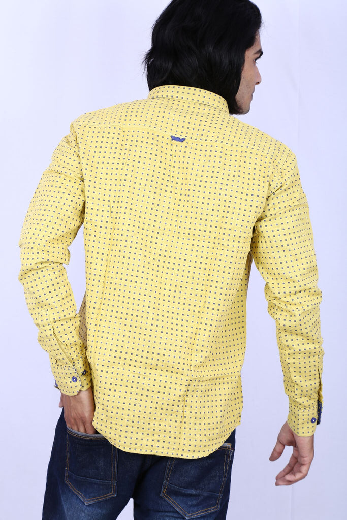 Taka Apparels Yellow Casual Shirt