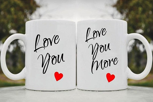Chitchat Cafe Love Me More Couple Mugs