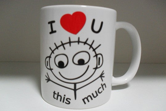Chitchat Cafe I Love You This Much Mug