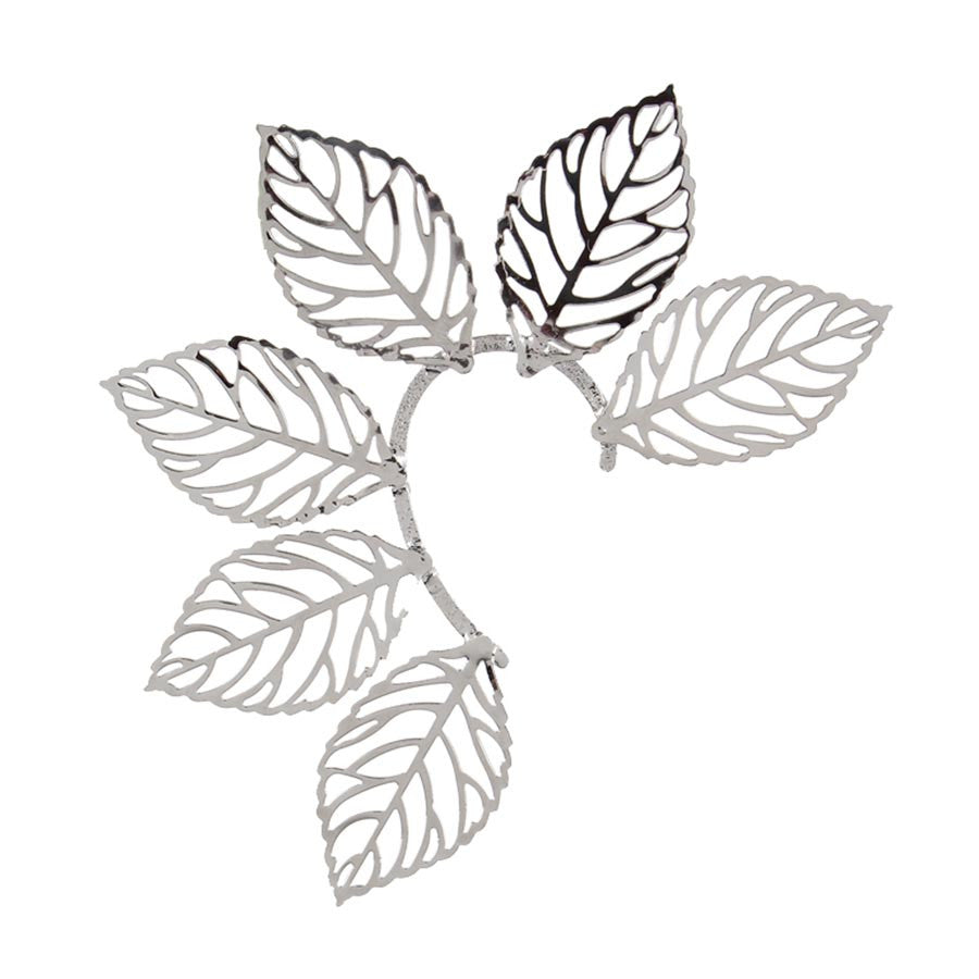 Fayon Trendy Costume Six Silver Leaves Ear cuff