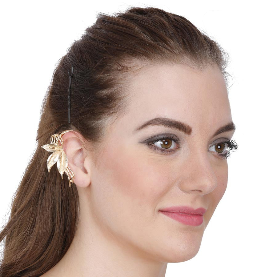 Fayon Weekend Casual Silver Leaf Inspired Ear Cuff