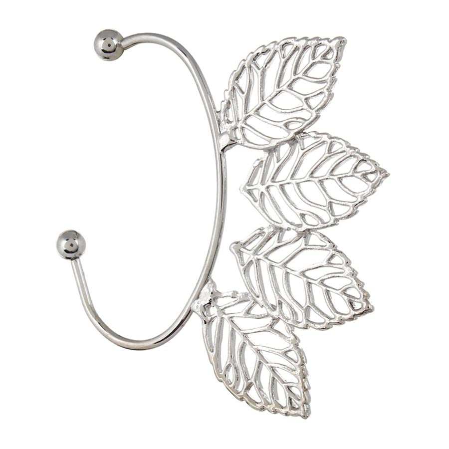 Fayon Casual Four Silver Leaves Ear cuff for Single Ear